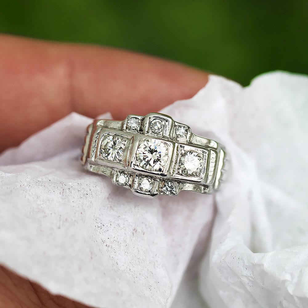 rings susannah diamond three edwardian stone image engagement from ring