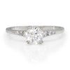 Once Upon A Diamond Engagement Ring White Gold Old Mine Cut Diamond Engagement Ring 18K White Gold .75ctw