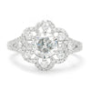 Once Upon A Diamond Engagement Ring White Gold Round Diamond Flower Halo Engagement Ring 18K 1.85ctw