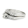 Once Upon A Diamond Engagement Ring White Gold Vintage Round Diamond Engagement Ring Set White Gold .50ctw