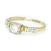 Once Upon A Diamond Engagement Ring White & Yellow Gold Vintage 1950s Round Diamond Engagement Ring 14K .26ctw