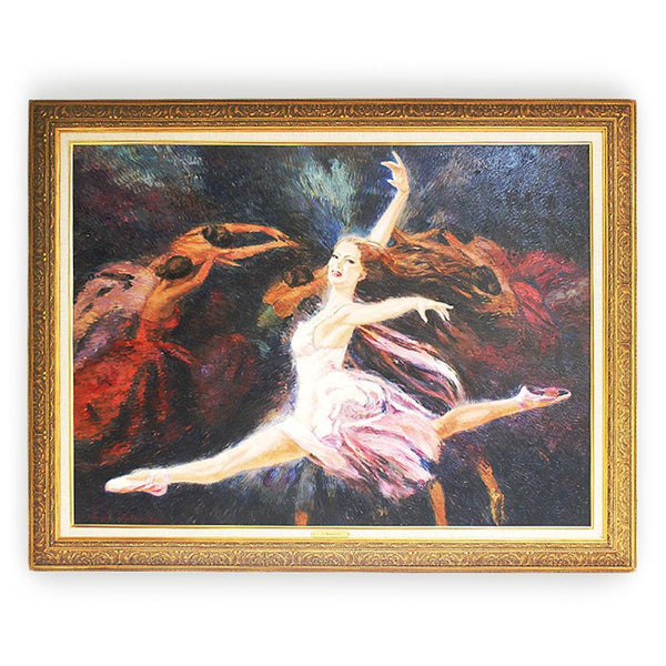 "Once Upon A Diamond Painting Nenad Mirkovich ""Angel Wings"" Original Oil Painting Framed 37 x 47"" Ballerina"