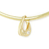 Once Upon A Diamond Pendant Necklace Yellow Gold Slide Diamond Pendant 5mm Omega Necklace 14K .63ctw