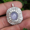 Once Upon A Diamond Pendant Platinum & White Gold Certified Star Sapphire Pendant with Diamonds Platinum 14K