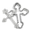 Once Upon A Diamond Pendant White & Black Oxidized Gold Diamond Double Cross Pendant Set White & Black Gold .53ctw
