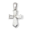 Once Upon A Diamond Pendant White Gold Hexagonal Diamond Cross Pendant 18K White Gold 1.00ctw