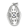 Once Upon A Diamond Pendant White Gold Vintage Reproduction Open Filigree Sapphire Pendant 14K