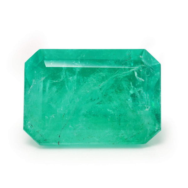Once Upon A Diamond Ring Green 24.70 Carat EGL USA Certified Loose Natural Colombian Emerald