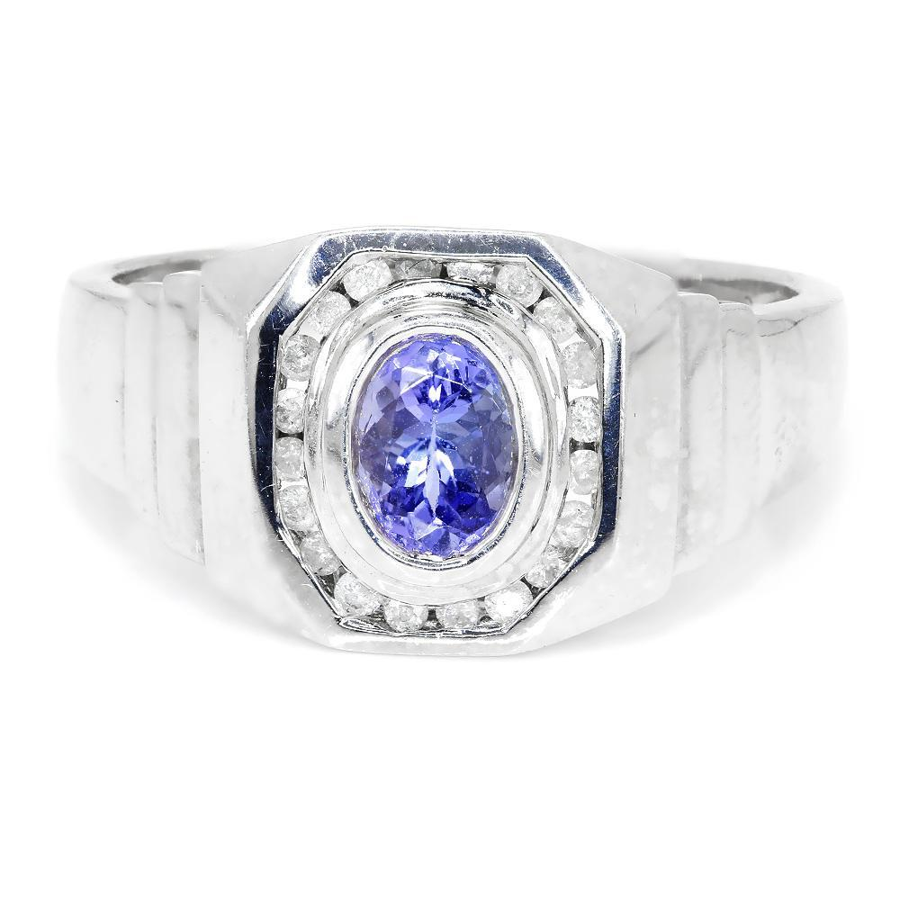 oval tanzanite aaaa swirl petra antique ring cut gems diamond