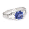 Once Upon A Diamond Ring Platinum Blue Sapphire Engagement Ring with Diamonds Platinum 2.10ctw
