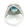 Once Upon A Diamond Ring White & Black Gold Antique Solitaire Created Zircon Ring 18K White Gold 5.00ct