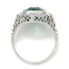 Once Upon A Diamond Ring White Gold Antique Solitaire Created Zircon Ring 18K White Gold 5.00ct