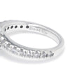 Once Upon A Diamond Ring White Gold Ever Us 1.25ctw Round Diamond Bypass Ring 14K White Gold