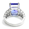 Once Upon A Diamond Ring White Gold Le Vian 8.56ct Tanzanite Ring with Diamonds 18K White Gold