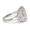 Once Upon A Diamond Ring White Gold Open Filigree Vintage Ring with Diamonds 14K White Gold .18ctw