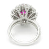 Once Upon A Diamond Ring White Gold Pink Sapphire Waterfall Ring with Diamonds White Gold 4.15ctw