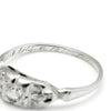 Once Upon A Diamond Ring White Gold Vintage Old Mine Cut Diamond Ring 14K White Gold .17ctw