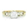 Once Upon A Diamond Ring White & Yellow Gold Vintage 1940s Old European Diamond Engagement Ring 14K