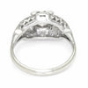 Once Upon A Diamond Ring Yellow Gold Art Deco Old Euro Diamond Engagement Ring 14K Platinum .65ct