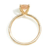 Once Upon A Diamond Ring Yellow Gold Oval Morganite Ring with Pave Diamonds Rose Gold 1.74ctw