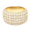 Once Upon A Diamond Ring Yellow Gold Round Diamond Wide Cigar Band 14K Yellow Gold 5.00ctw