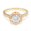 Once Upon A Diamond Semi Mount Rose Gold Noam Carver Halo Engagement Ring Semi-Mount Rose Gold