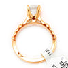 Once Upon A Diamond Semi Mount Rose Gold Tacori Sculpted Crescent Round Engagement Ring Semi-Mount 18K