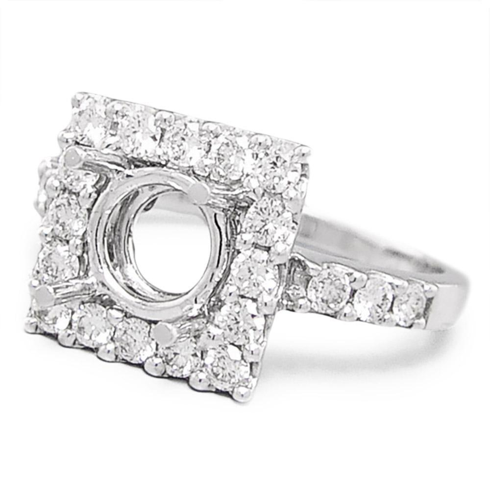 halo round rings engagement zirconia promise size p wedding cut square sara cubic ring full