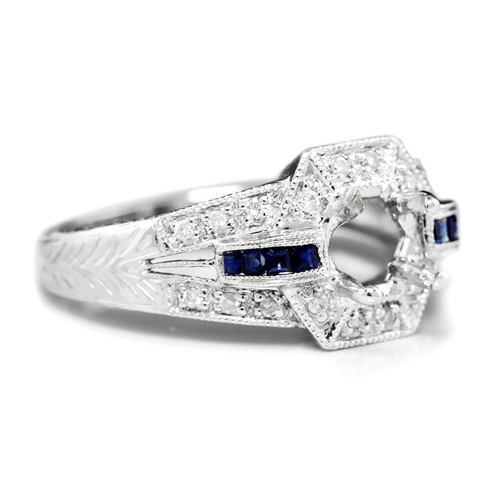 diamond wedding mount fine ring rings semi windsor platinum engagement parade