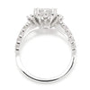 Once Upon A Diamond Semi Mount White Gold Noam Carver Oval Halo Engagement Ring Semi-Mount White Gold