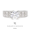 Once Upon A Diamond Semi Mount White Gold Noam Carver Wide Engagement Ring Semi-Mount White Gold