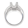 Once Upon A Diamond Semi Mount White Gold Round Diamond Engagement Ring Semi-Mount 18K White Gold