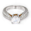 Once Upon A Diamond Semi Mount White Gold Round Diamond Tapered Engagement Ring Semi-Mount Platinum 18K