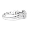 Once Upon A Diamond Semi Mount White Gold Tacori Classic Crescent Cushion Halo Engagement Ring Semi-Mount