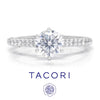 Once Upon A Diamond Semi Mount White Gold Tacori Petite Crescent Round Engagement Ring Semi-Mount 18K