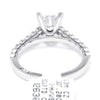 Once Upon A Diamond Semi Mount White Gold Tacori Sculpted Crescent Round Engagement Ring Semi-Mount 18K