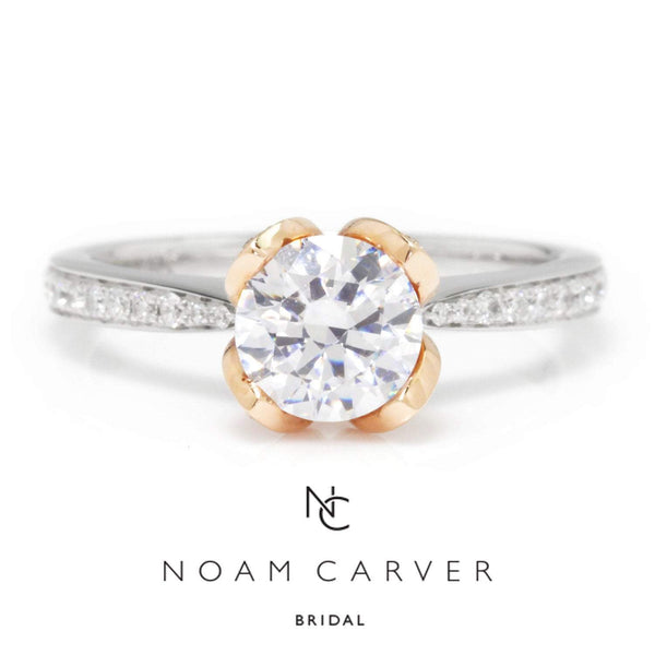 Once Upon A Diamond Semi Mount White & Rose Gold Noam Carver Engagement Ring Semi-Mount White/Rose Gold