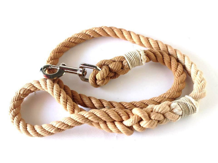 Beige Rope Leash