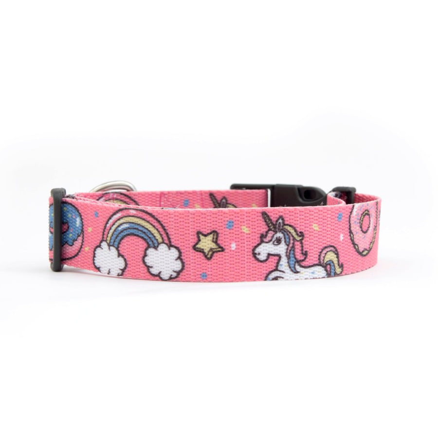 Dog Unicorn collar,  quality nylon webbing our patterns are printed into the nylon, making our Collars as resistant as colorful.