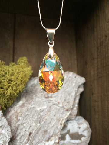 Swarovski Medium Pear Drop Pendant Necklace