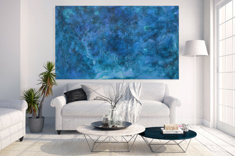 Resin Painting - Azure (SOLD)