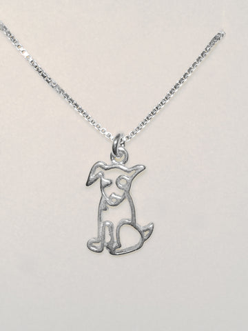 Sterling Puppy Necklace