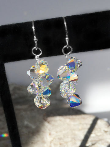Swarovski Bicone Drop Sterling Earrings
