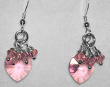 Swarovski Crystal Heart Earrings - Birthstone Colours