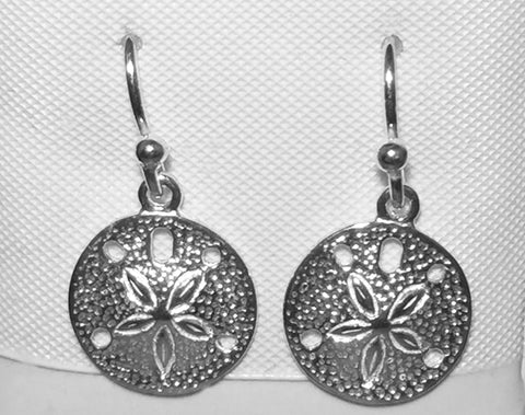 Sterling Sand Dollar Earrings