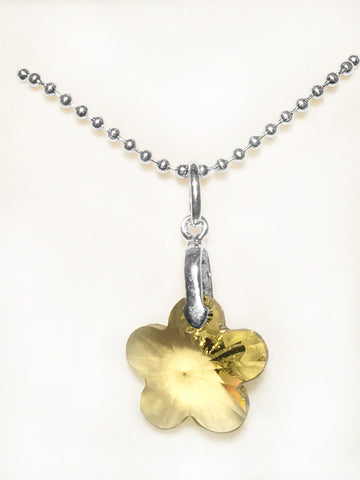 Swarovski Yellow Flower Necklace