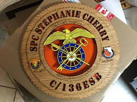 Plaque SPC Stephanie Cherry