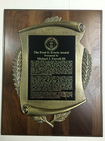 Award Plaque Traditional