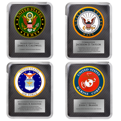 Military Chrome Plaque