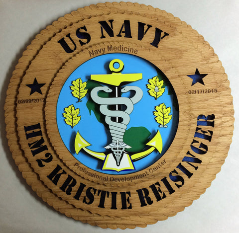 Plaque Wood Navy